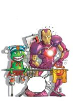 Cover G3 no 75 Ironman spoof by niezamcomic