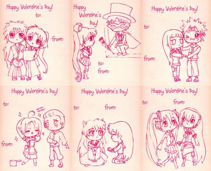 Valentine - Anime Sheet for Printing by Kuroikii