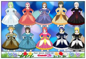 Fancy Magical Skirts For Comipo by Lady-Aurora-Moon