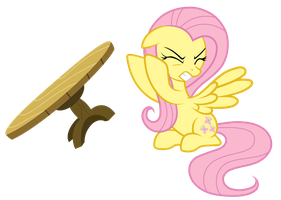Fluttershy Table Flip by JunkiesNewb
