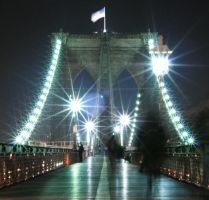 Brooklyn Bridge Lights by ownorosho