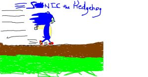 Sonic the Hedgehog by pokefreak123