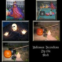 Halloween Decorations Zip File by WDWParksGal-Stock