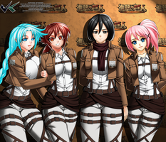 Commission : Shingeki no Kyojin Picture Taking by jadenkaiba