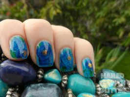 Floral Nail Decal Review by NailedItWithGlitter