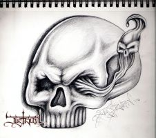another skull. by justburnt1