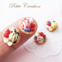 ice cream + waffle earrings1 by PetiteCreation