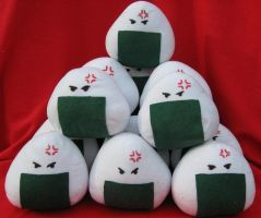 Angry Rice Balls by Plushie-Momma
