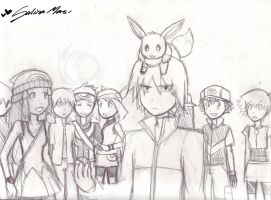 Pokemon Trainers by SkiM-ART