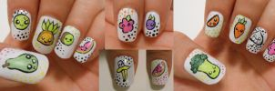 Kawaii  fruit nails :) by henzy89