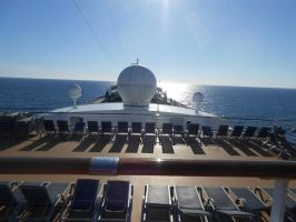 The Carnival Pride in the sun by OceanRailroader