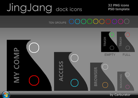 Jing-Jang dock icons by Carburator