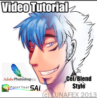 SAI Coloring Tutorial: Water Blend by Lunafex