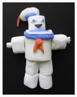 Edible Stay Puft Marshmallow Man by mikedaws
