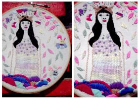 My 1st embroidery by AnandaFifi