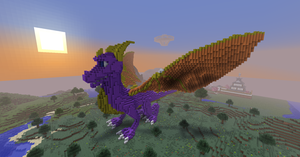 3D Minecraft Spyro by TheApiem