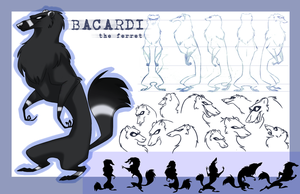 Bacardi the ferret by Blackpassion777
