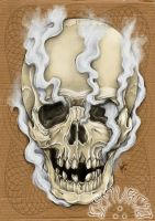 Smoked skull by dfmurcia