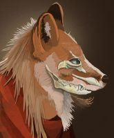 Vulpes vulpes by ClockworkSparrows