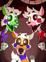 Mangle, Tangle....And lolbit by PopAnimals