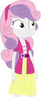 Vector - EqG Sweetie Belle by JustinKWork
