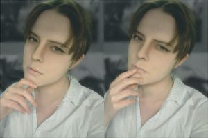 Rivaille Test Makeup by ginkouki