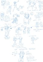 GSC sketches A.K.A my nuzlocke sketches :P by mizj