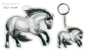 Horse keychain by Dragarta