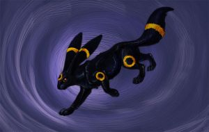 Realistic Umbreon sketch - for plywood accessories by hontor