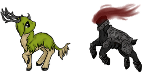 Chibi Ila And Dullahan by SilverRacoon