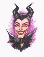 Maleficent Doodle by JollyGorilla