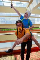 Jake the Dog and Finn the Human by lilylighting