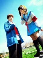 It' s an adventure, right - Haruhi and Kyon by Carlos-Sakata