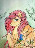 Fluttershy - Painting by LylisArt