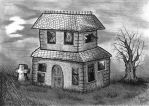 Spooky old house 2. by DannoGerbil