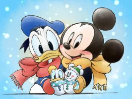 snow mickey donald by chico-110