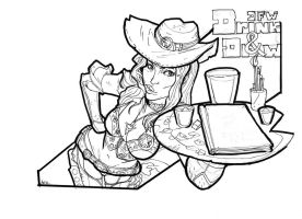 Drink and Draw Dallas by DouEdgeZword