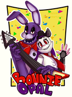 Bonnie And Opal Badge by JollyLink