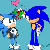 CE:Sonic and Stary MistleToe by fansonic