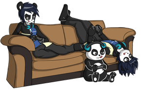 Couch Gaming by Flatty93