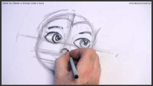 Learn How to Draw Young Girl's Face 010 by drawingcourse