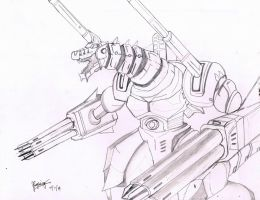 Godzilla Generations: SMG-IInd sketch by AVGK04