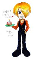 Happy Birthday Sanji-kun 2013 by kojika