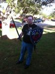 Me with the Master Sword and Hylian Shield by Talaeladar