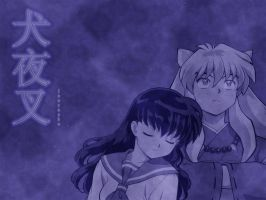 Inuyasha and Kagome by OblivionMidnight