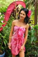 Tara - sarong in garden 2 by wildplaces