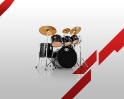 Drums Minimalistic Wallpaper by MetalIrving
