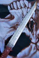 The Abaddon Sword blade by GageCustomKnives