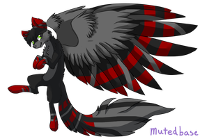 Winged wolf adopt auction  (Closed) by SanitysAdopts