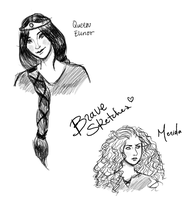 Brave Sketches by Chloe-The-Great